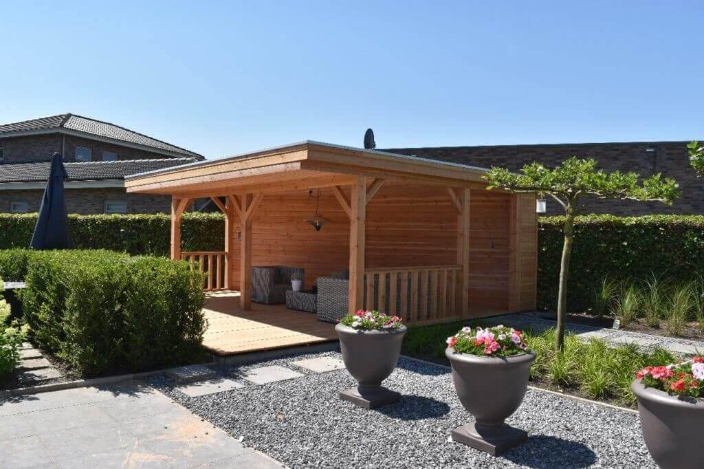 terrasoverkapping van hout